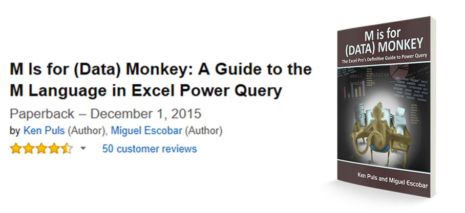 Advanced Power Query and other questions from 'M is for Data Monkey' readers